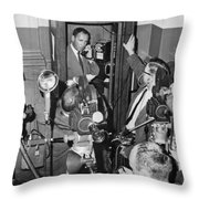 New Site For Clay-liston Fight Throw Pillow
