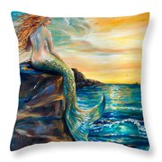 New Smyrna Inlet Throw Pillow by Linda Olsen