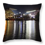New Husky Stadium Reflection Throw Pillow