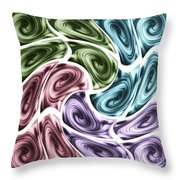 New Swirls Throw Pillow