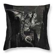 New Terror I Conceived From Dantes Inferno Throw Pillow