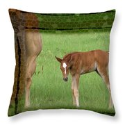 New To The World Throw Pillow