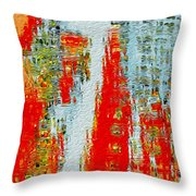 New Town Throw Pillow by Jack Zulli