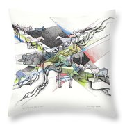 Small Herd At The Edge Of Town Throw Pillow