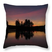 Summer Sunset In Nh Throw Pillow