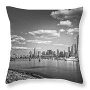 New World Trade Center Bw Throw Pillow