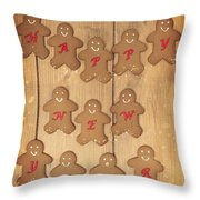 New Year Gingerbread Throw Pillow