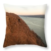 New Year's Dawn At Englewood Cliffs Throw Pillow