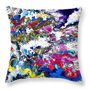 New Year's Day With Snow Throw Pillow