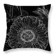 New Years Eve Flower Throw Pillow