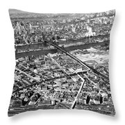 New York 1937 Aerial View  Throw Pillow