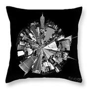 New York 2 Circagraph Throw Pillow by Az Jackson