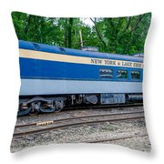 New York And Lake Erie Railroad Throw Pillow