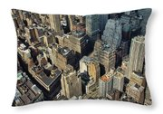 New  York Architecture Throw Pillow