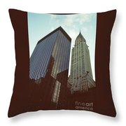 New York Architecture Old And New Throw Pillow