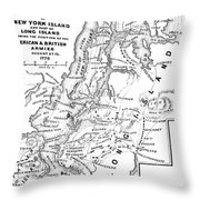 New York: Armies, 1776 Throw Pillow
