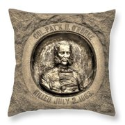 New York At Gettysburg - 140th Ny Volunteer Infantry Little Round Top Colonel Patrick O' Rorke Throw Pillow by Michael Mazaika