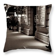 New York At Night - The Phone Call - Theatre District Throw Pillow