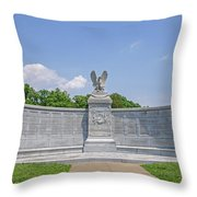 New York Auxiliary State Monument Throw Pillow