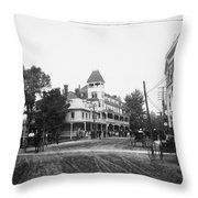 New York Berkley Hotel Throw Pillow