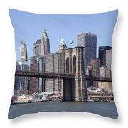 New York Bridge 3 Throw Pillow