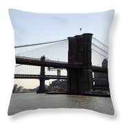 New York Bridge 5 Throw Pillow