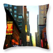 New York By Twilight Throw Pillow