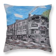 New York Central Train Throw Pillow