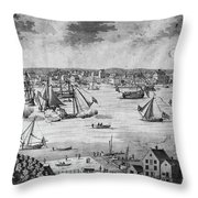 New York City, 1717 Throw Pillow