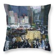 New York City 1900s Throw Pillow
