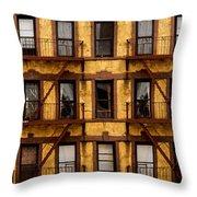 New York City Apartment Building Study Throw Pillow