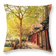 New York City - Autumn In The East Village  Throw Pillow