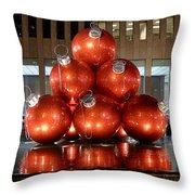 New York City Baubles Throw Pillow
