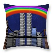 New York City Better Days 2 Throw Pillow by Andee Design