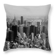 New York City Black And White Throw Pillow