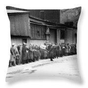 New York City Bread Line Throw Pillow