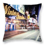 New York City - Broadway Lights And Times Square Throw Pillow