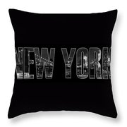 New York City Brooklyn Bridge Bw Throw Pillow by Melanie Viola