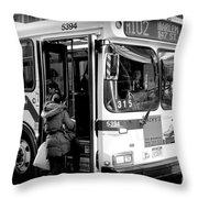 New York City Bus Throw Pillow