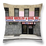 New York City Storefront 4 Throw Pillow