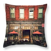 New York City - Cafe In Tribeca Throw Pillow