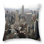 New York City Canyons Throw Pillow