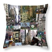 New York City Collage Throw Pillow