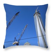 New York City Freedom Tower Throw Pillow
