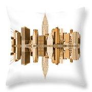 New York City Landmarks - Usa Throw Pillow
