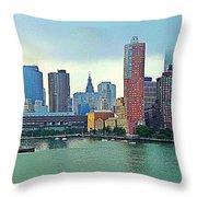 New York City Landscape Throw Pillow