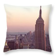 New York City - Manhattan Panorama Throw Pillow