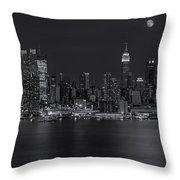 New York City Night Lights Throw Pillow