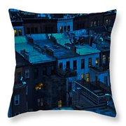 New York City Nightfall Throw Pillow
