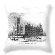 New York City Normal College - 1870 Throw Pillow